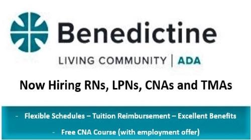Benedictine Living Center Ad 500x280